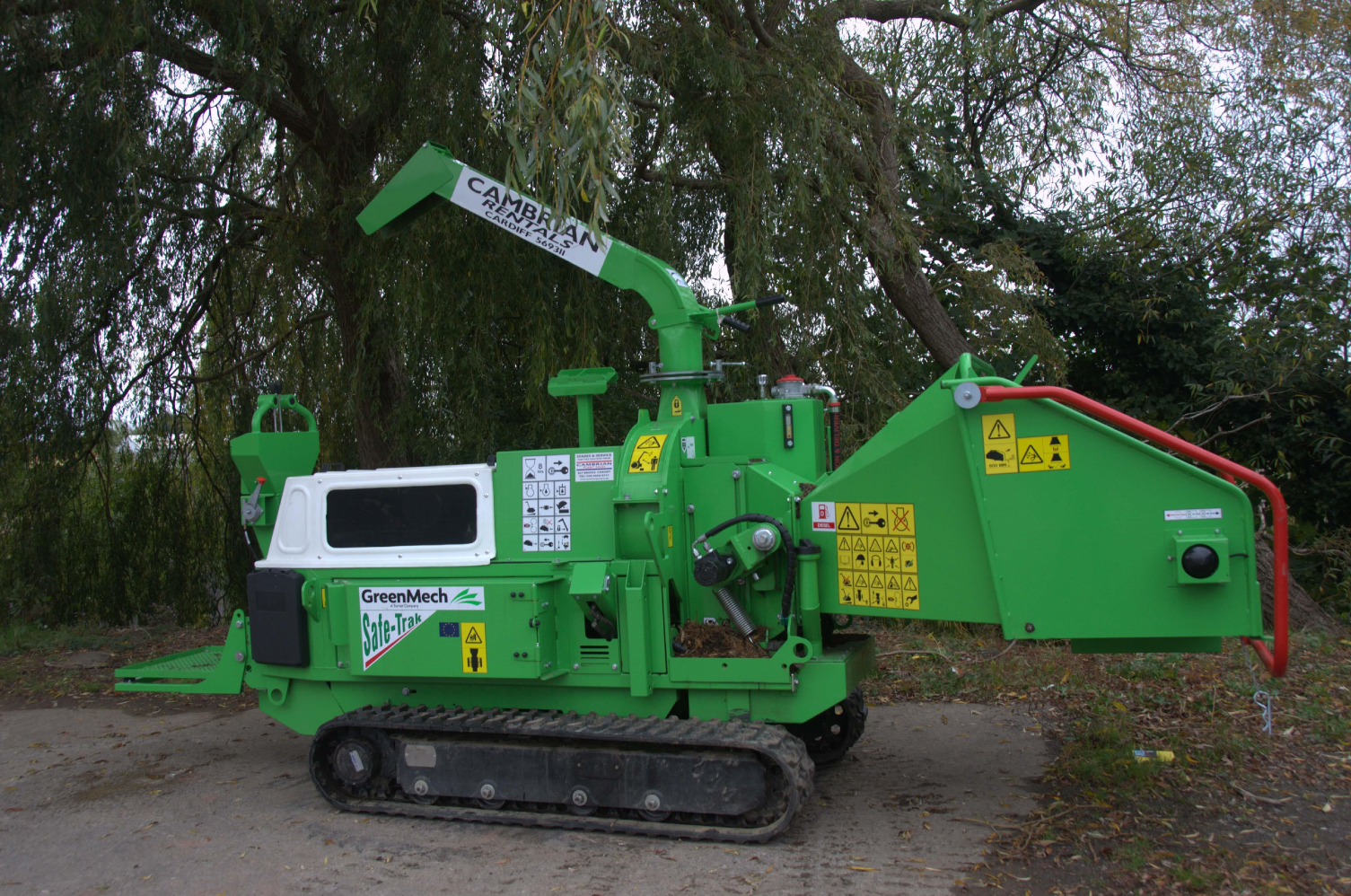 GreenMech SAFE-Trak 19-28 Tracked Wood Chipper For Sale
